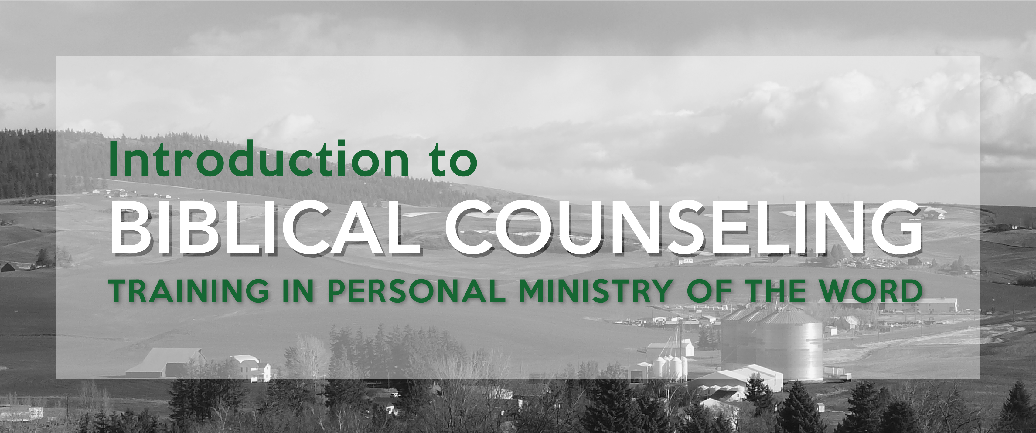 Introduction to biblical counseling christ church events 2016