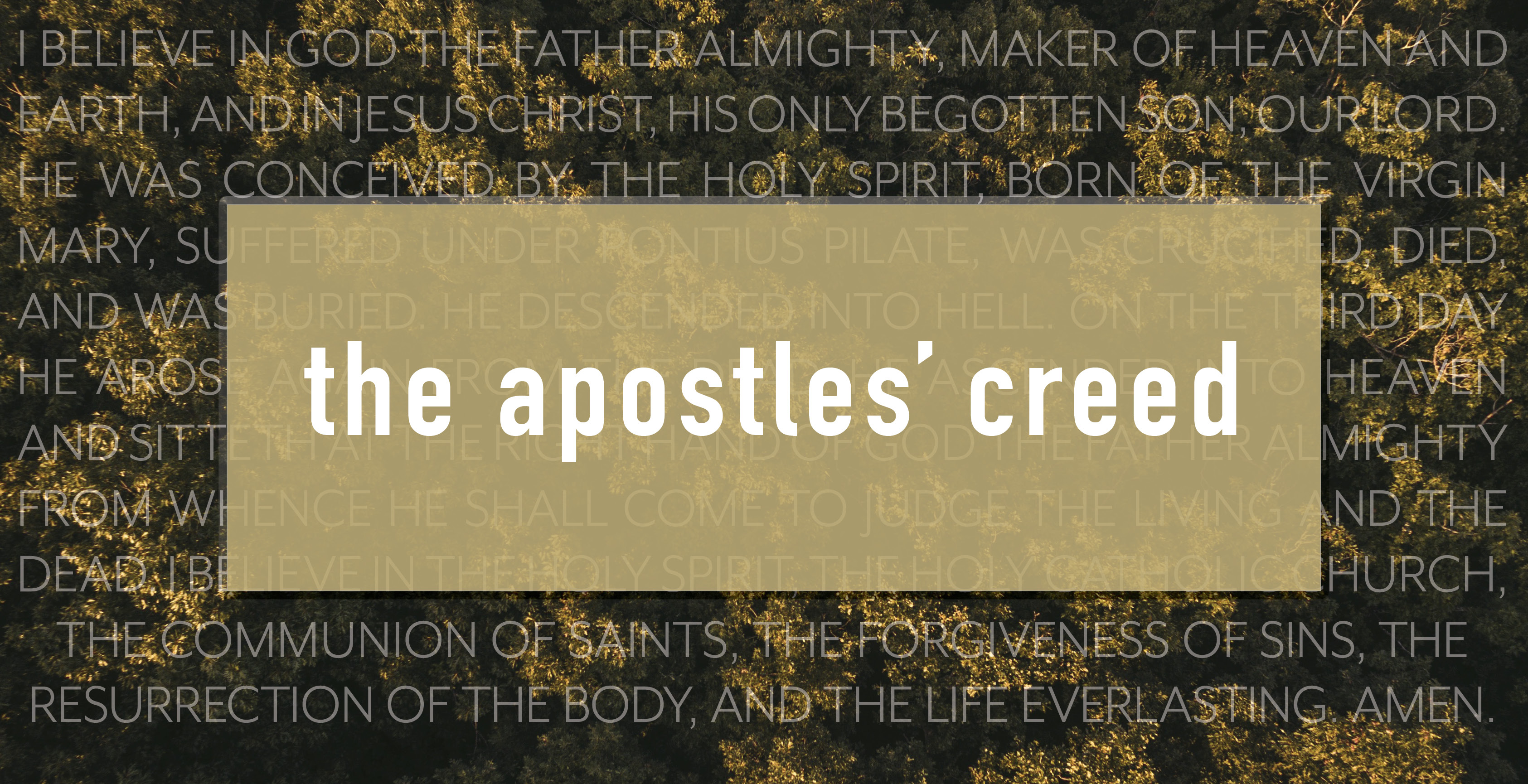 the apostles creed The apostles' creed: a guide to the ancient catechism (christian essentials) - kindle edition by ben myers download it once and read it on your kindle device, pc, phones or tablets.