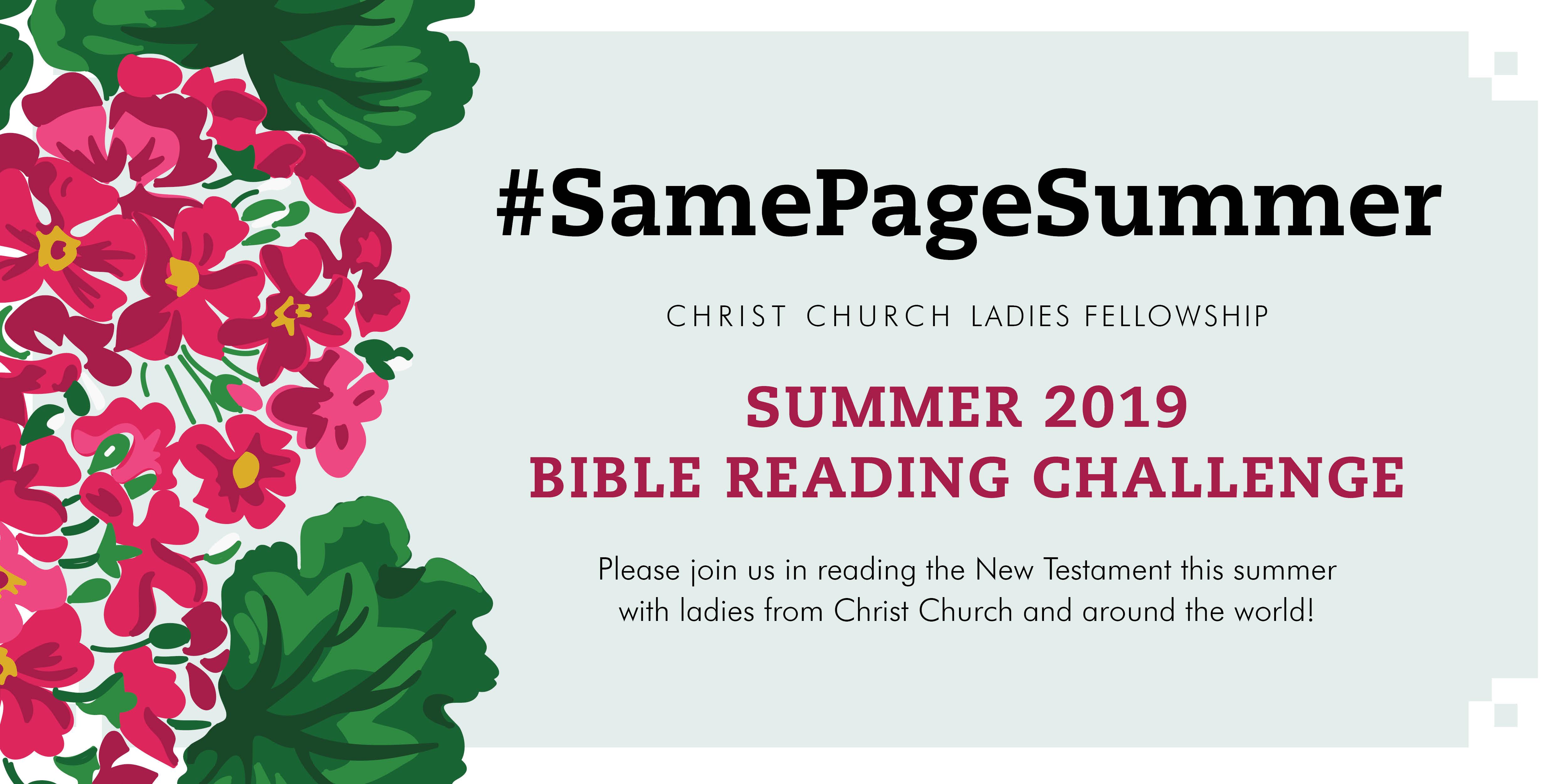 Women's Bible Challenge - Christ Church